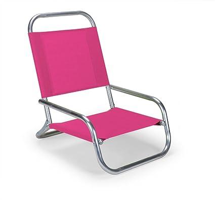 e56d33e9d4bd Amazon.com : Telescope Casual Sun and Sand Folding Beach Chair, Pink : Folding  Patio Chairs : Garden & Outdoor