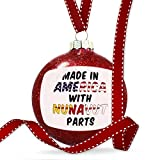 Christmas Decoration Made in America with Parts from Nunavut Ornament