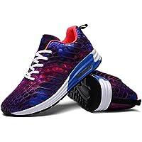 wonvatu Mujeres Hombres transpirable Moda Zapatillas de running cómodo ligero Athletic Walking Sneakers