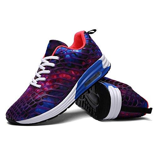 Light 4 Cushion Running Shoe (Wonvatu Women Men Breathable Fashion Running Shoes Comfortable Lightweight Athletic Walking Sneakers)