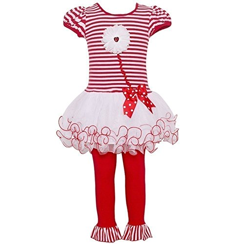 Bonnie Baby Toddler Girl Valentine's Day Tutu Dress Set (2t-4t) (2t)