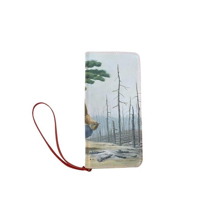 sljd mujeres personalizados de Smokey Bear Mascot sólo usted cartera larga monedero del embrague: Amazon.es: Ropa y accesorios