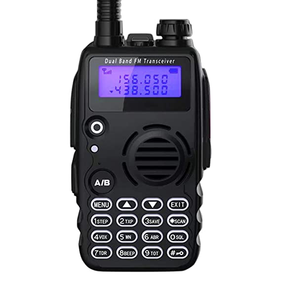 Radioddity GA-5S 7W High Power Two Way Radio UHF VHF Dual Band Ham Radio Walkie Talkie with Flashlight Squelch 1800mAh Battery + Earpiece