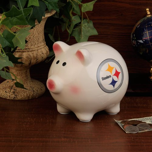 NFL Pittsburgh Steelers Team Ceramic Piggy Bank