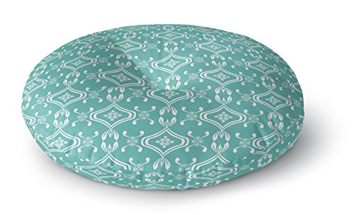 KAVKA DESIGNS Beach Bingo Floor Pillow, (Blue) - TRUDYBOOM Collection, Size: 23x23x8 - (TELAVC026FPR23) by KAVKA DESIGNS
