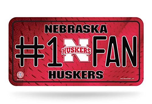 (NCAA Nebraska Cornhuskers #1 Fan Metal License Plate Tag)