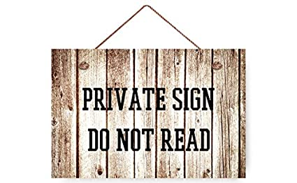 amazon com wendana private sign do not read rustic wood signs wall