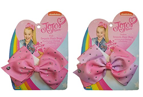 Rubie's Girl's JoJo Siwa Bows Costume Accessory, Pink and Pink Ombre, Set of 2]()