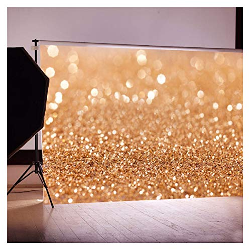 Photography Backdrops Yellow Glitter Bright Dots Backdrop for ChildrenNewborn