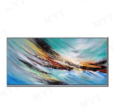 Peinture à L Huile Peinte à La Main Sur Toile Abstract Sea