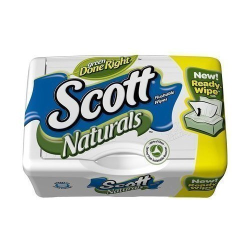 Scott Naturals with Aloe Vera Flushable Moist Wipes, 51ct (Pack of 2)