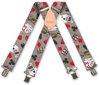 Brimarc de hombre de piel de diseño de la bandera de tirantes para caballos trabajo Casino 5, 08 cm/50 mm: Amazon.es: Ropa y accesorios