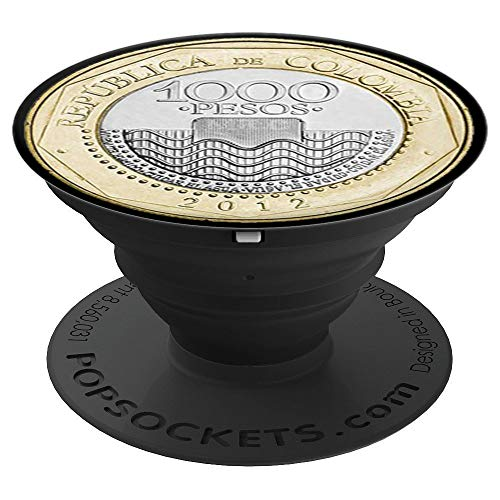 Colombia Colombian Flag Thousand Pesos Coin - PopSockets Grip and Stand for Phones and Tablets