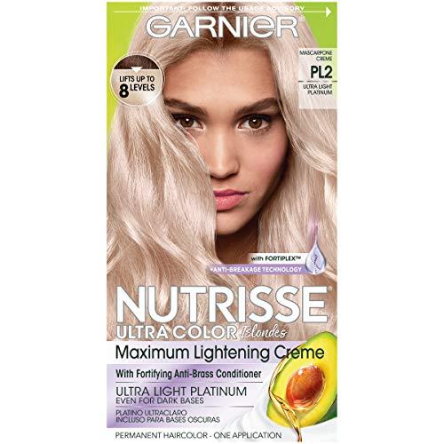 Garnier Hair Color Nutrisse Ultra Color Nourishing Hair Color Creme, Mascarpone Creme Pl2, 1 Count