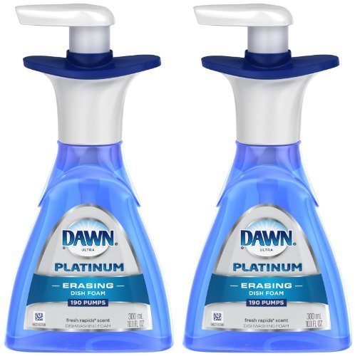 Dawn Ultra Platinum Diswashing Foam - 10.15 oz - Fresh Rapids - 2 pk