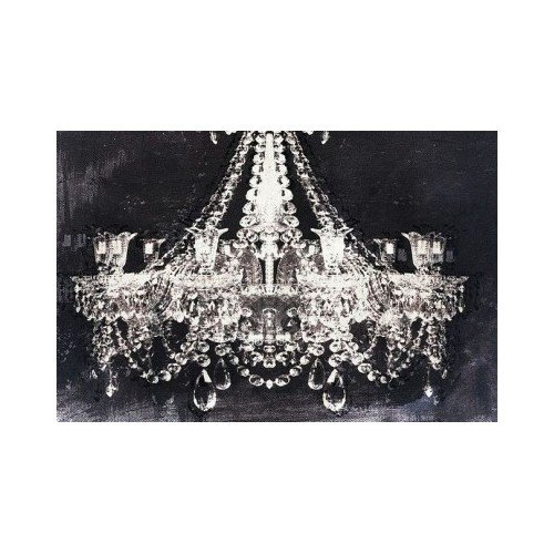 Pop Graphic Art Chandelier Authentic (16h X 24 W) Black and White