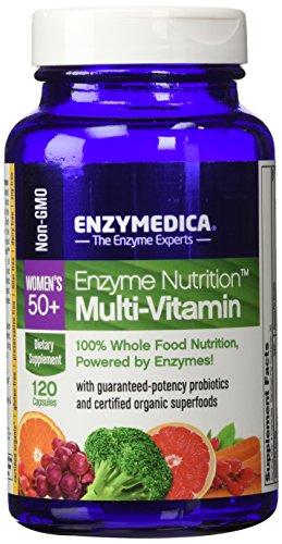 Enzima nutrición-de las mujeres 50 + multi vitaminas - 100% alimentos nutrición, 120 cápsulas (FFP)