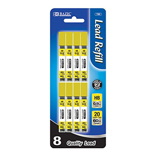 BAZIC 20 Count 0.9mm Mechanical Pencil Lead  (780-288) by Bazic