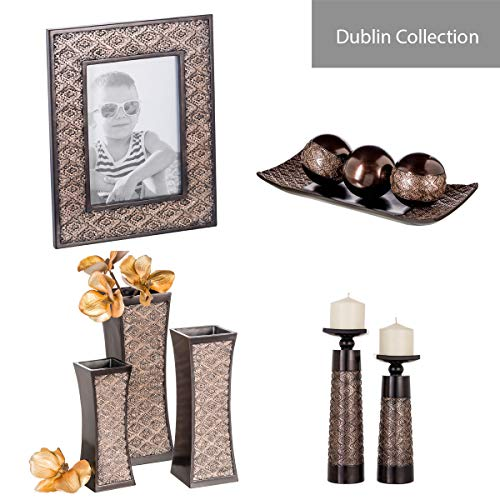 Dublin Home Decor Tray and Orbs Balls Set of 3 - Coffee Table Mantle Decor Centerpiece Bowl with Spheres House… 6