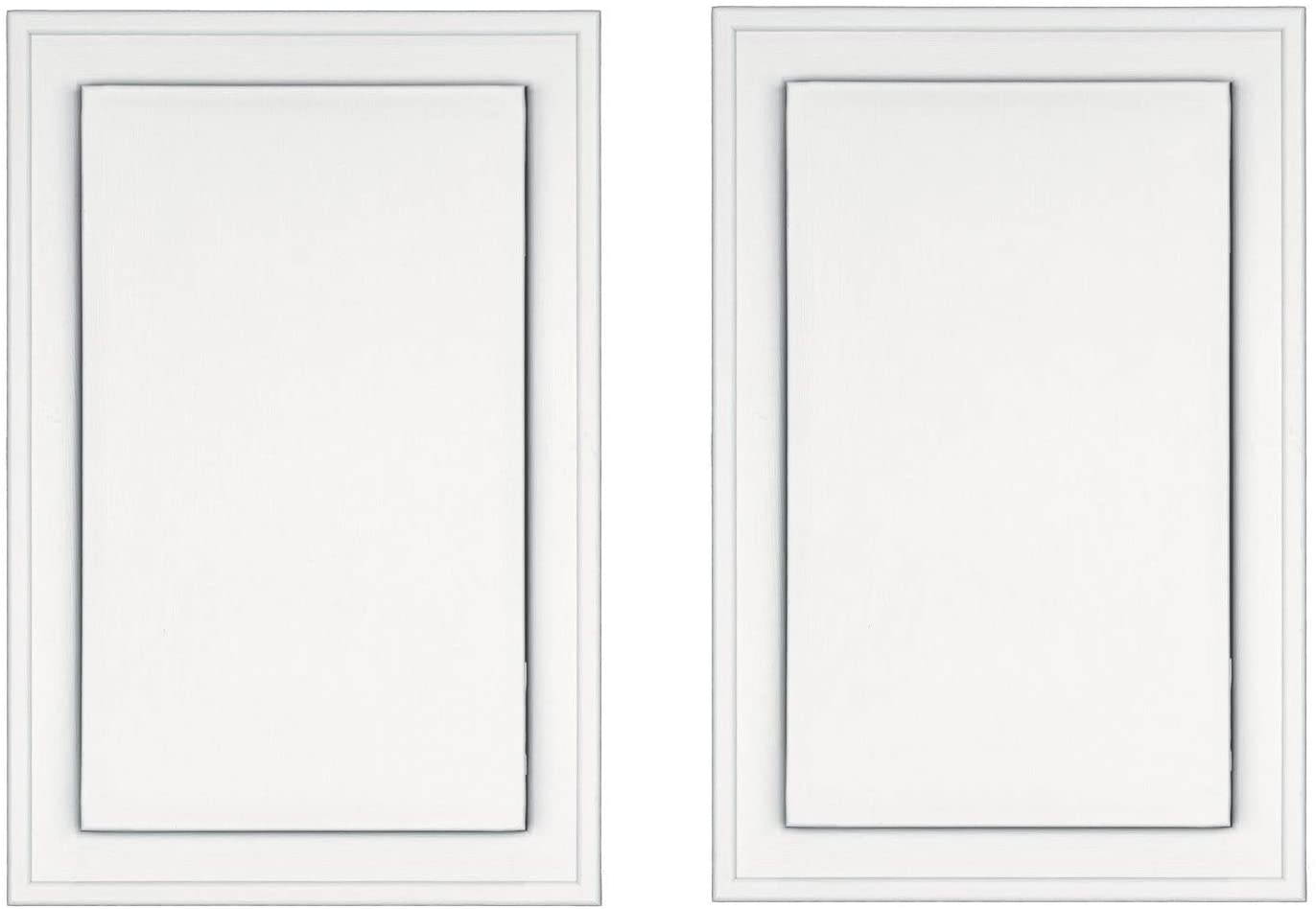 Pack of 2 Builders Edge 130110008123 Surface Block White