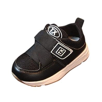 39d1d5d49222cf GongzhuMM Sneakers Basses Mixte Enfant,avec Semelle Souple,Chaussures Bébé  Maille Velcro,Baskets