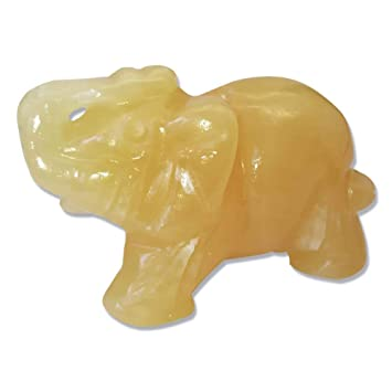 1.5-Zoll-Elefant Tier Tasche Stein Geschnitzte Elefant Figur Jade Dekoration