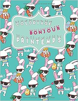 Coloriage Chat De Paques.Coloriage Bonjour Printemps 101 Dessins Antistress