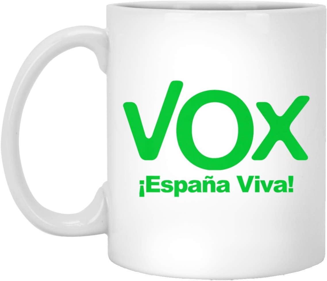 VOX Espana Viva Playera Camiseta Democracia 11 oz. White Mug: Amazon.es: Hogar
