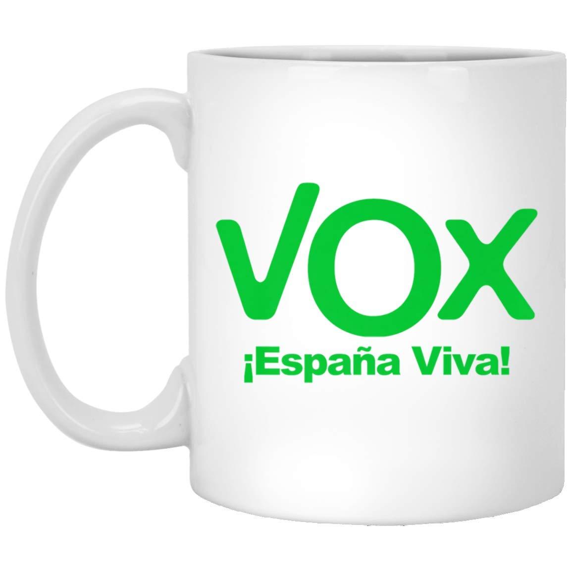 VOX Espana Viva Playera Camiseta Democracia 11 oz. White Mug ...