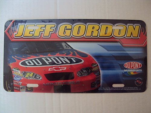 Racing Reflections Du Pont #24 Jeff Gordon Soft Steel Collectible License Plate