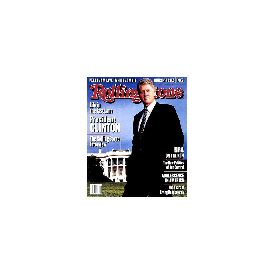 Bill Clinton, 1993 Rolling Stone Cover Poster by Mark Seliger (9.00 x 11.00)