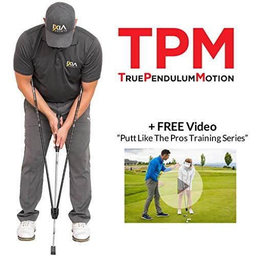 IXIA Sports - True Pendulum Motion (TPM) - Golf Putting Training Aid - Universal Tool for Adults, Kids, Juniors, Men, Women, Gift, Putter, Golf Channel School of Golf, Attaches to Any Putter Shaft