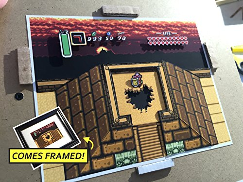 Legend Of Zelda: A Link To The Past Diorama (Framed Artwork) SNES by Popt Art