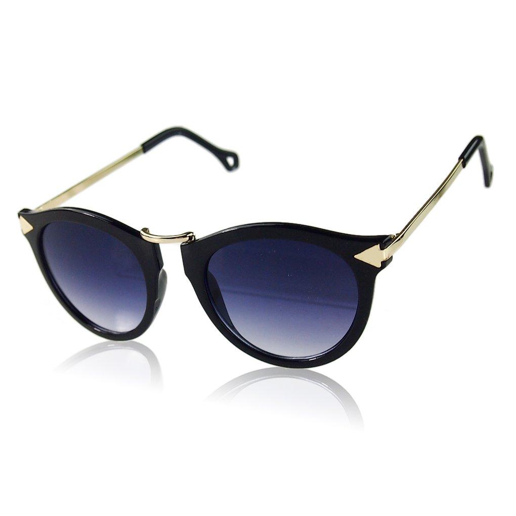 QHGstore Metallo Freccia Occhiali da sole rotondi di moda degli occhiali NO.2 delle donne retro anna...