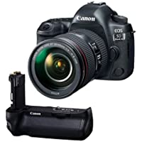 Canon EOS 5D Mark IV with EF 24-105mm f/4L IS II USM Lens - With Canon BG-E20 Battery Grip