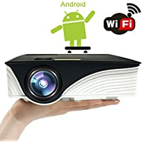 [Android Projector] J-DEAL M2 LED Portable Mini Video Projector Build-in Android OS Multimedia Home Theater Video Projector Support 1080P HDMI USB SD Card VGA AV