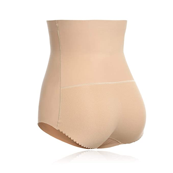 51e5c2e41 Joyshaper Womens Seamless Butt Lifter Shapewear with Tummy Control Padded  Panties Hip Enhancer Underwear(Nude