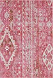 Cheap Unique Loom Basilica Collection Vintage Bohemian Traditional Colorful Pink Area Rug (4′ x 6′)