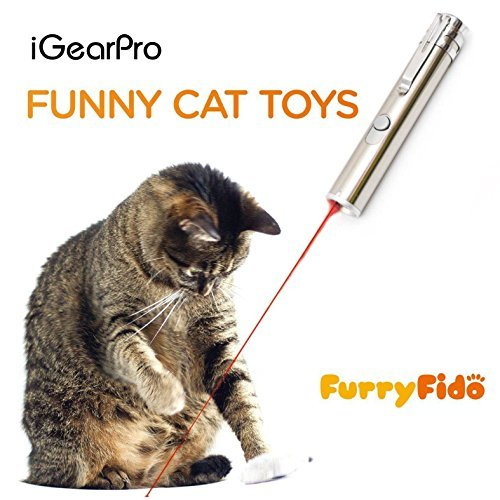 Chase Cat Toy For Endless Fun: Interactive LED Light by FurryFido to Entertain Your Pets - USB Chargeable (White, 2 pattern)