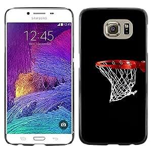 Caucho caso de Shell duro de la cubierta de accesorios de protección BY RAYDREAMMM - Samsung Galaxy S6 - Baloncesto neto del aro