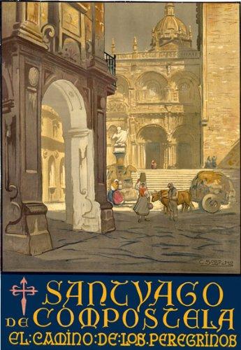 TT67 Vintage Santiago De Compostela Spain Spanish Travel Poster Re-Print - A2+ (610 x 432mm) 24'' x 17'' by Affiche Prints