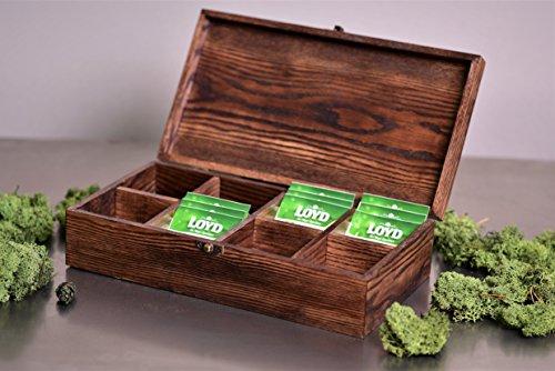 Wooden TEA box, Personalized, Engraved Tea Box, Christmas gift,Tea Bag Holder, Kitchen Gift, Engraved Tea Storage Organizer, House gift (With engraving) (Tea Personalized Bag)