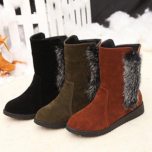 Stivali Da Donna, Haop Womens Inverno Caldo Neve Stivali Scarpe Caviglia Scarpe Martin Nero