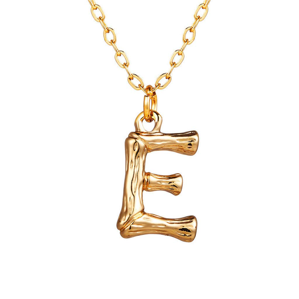 SADUORHAPPY Women Fashion 26 English Letter Name Heart Shaped Crystal Chain Pendant Necklaces Jewelry Gift