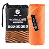 FIRELION Microfiber Bath Golf Towels Cooling MT 2018 Quick Dry Towels For Girls Tennis, Golf, Beach, Camping, Gym, Swimming, Backpacking Sports, Cars Cleaning, Orange, Medium