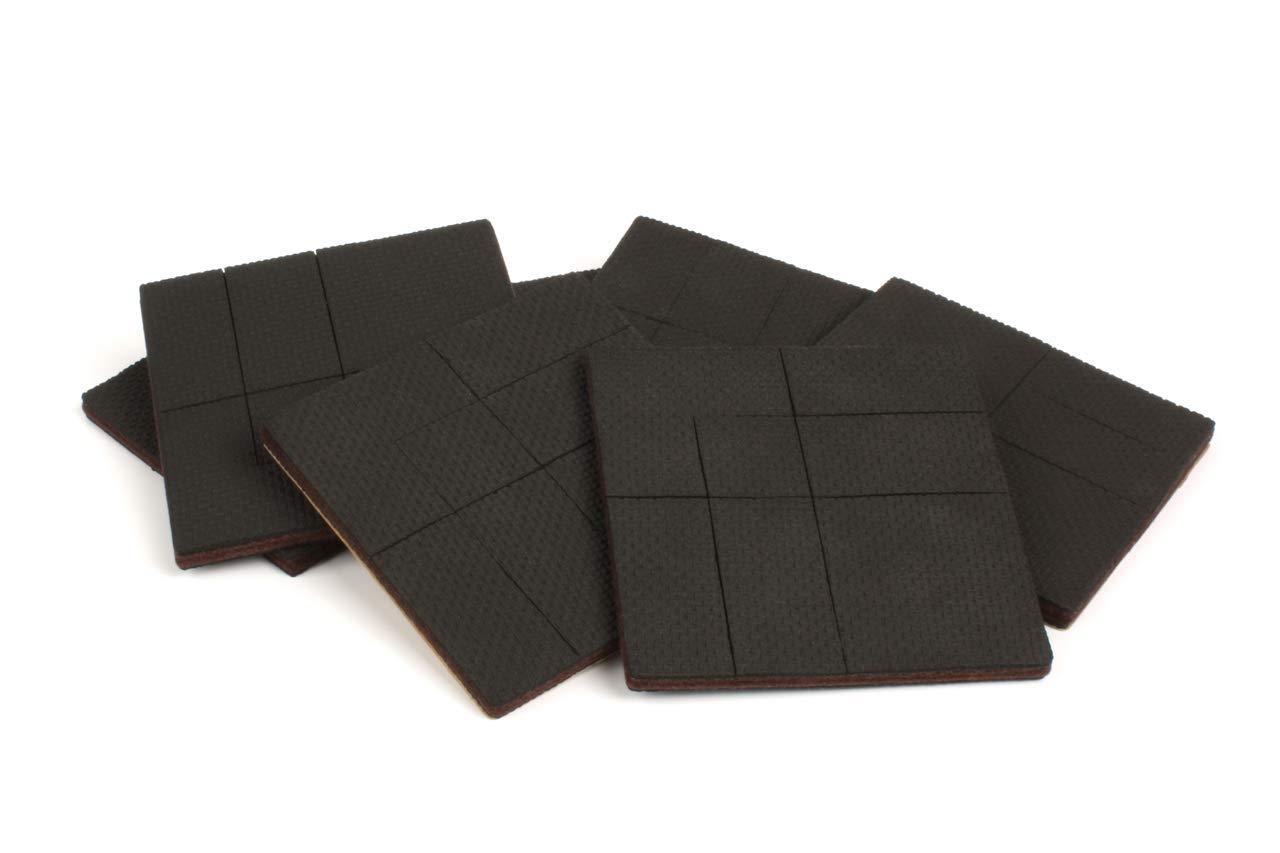 "Slipstick CB141 GorillaPad Grippers, 4"" Square Pre-Scored Non Slip Furniture Pads 4 Inch Black 6 Piece"