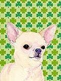 Caroline's Treasures SS4403GF Chihuahua St. Patrick's Day Shamrock Portrait Flag, Small, Multicolor For Sale