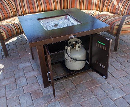 AZ Patio Heaters GS-F-PC Propane Fire Pit, Antique Bronze Finish