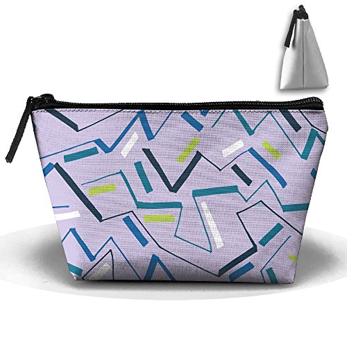 VIMUCIS Portable Printed Trapezoid Zippered Bag Geometric Pattern Toiletry - Bella Thorne Shopping