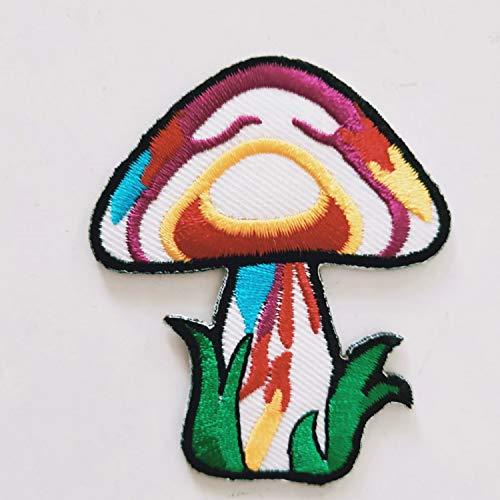 Mushroom Boho Rainbow Hippie Retro Love Cosmic Peace Weed LSD Shrooms Trance Pot Embroidered Applique Iron-on Patch New